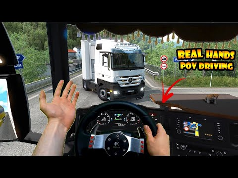 ★Real Hands Driving in ETS2 #1 | POV in Multiplayer Traffic | Logitech G27