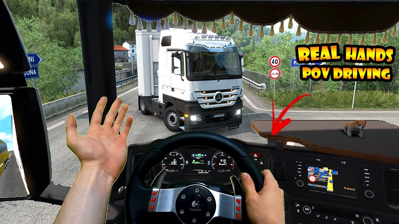 Download ★Real Hands Driving in ETS2 #1 | POV in Multiplayer Traffic | Logitech G27