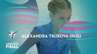 Alexandra Trusova RUS Ladies Free Skating ISU GP Finals 2019 Turin GPFigure
