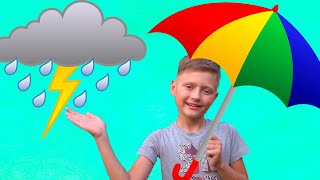 Outdoor Playground Water Park For Kids | Rain Rain Go Away Kids Song