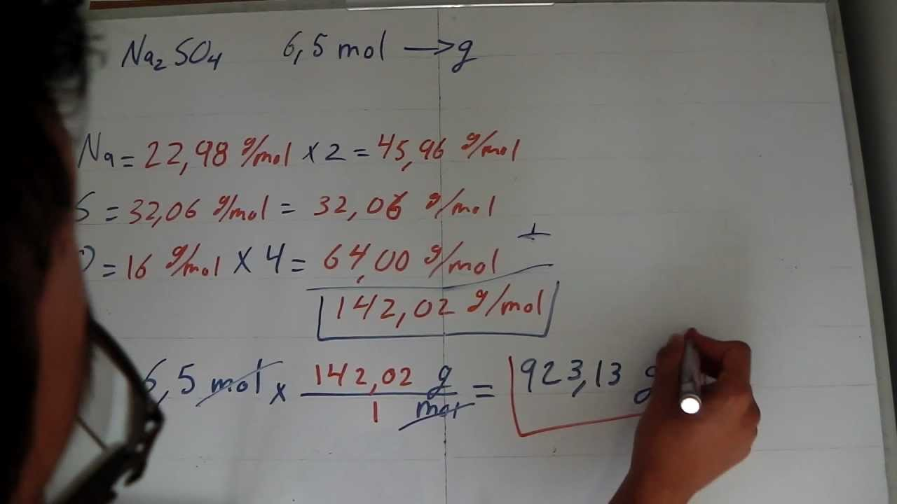 Estequiometría: Conversión entre moles y gramos.- Stoichiometry: Converting between mol and grams