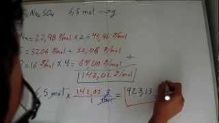 Estequiometría: Conversión entre moles y gramos.- Stoichiometry: Converting between mol and grams
