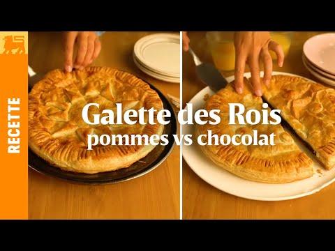 Galette des Rois au chocolat vs galette des rois aux pommes