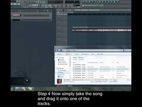 FL Studio 9 - How to import an mp3 super easy 4 step tutorial