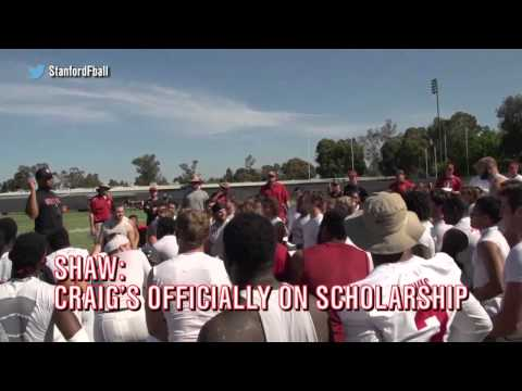 Stanford football coach surprises walk-on with scholarship