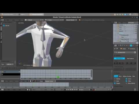 Godot Engine  Importing mesh and animations/actions from Blender 3D   (timelapse)