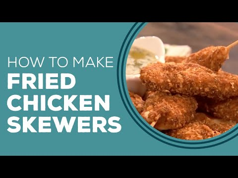 Fried Chicken Skewers with Lemon Garlic Sauce Blast from the Past