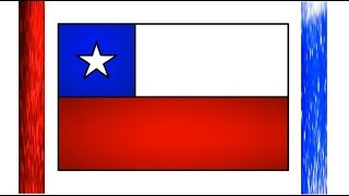 How to Draw Chile flag | The National flag of Chilean | Drawing for kids Chile flag | Little Channel