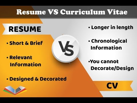 Difference Between Resume And Curriculum Vitae Cv In Hindi