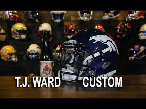 HELMET BUILD - TJ Ward Denver Broncos NFL Riddell Speed Helmet