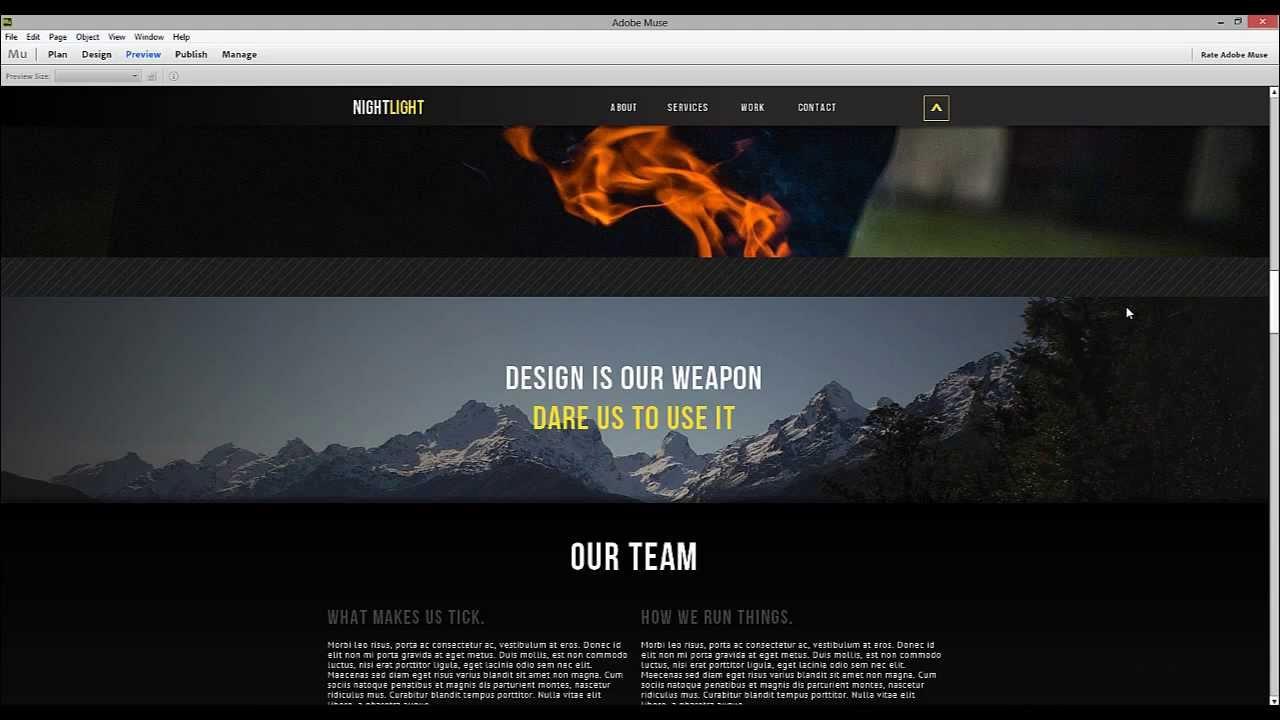 scroll website templates