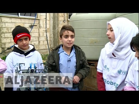 Syrian refugee children win robot-making competition in Lebanon