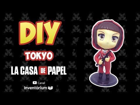 DIY - Tokyo la casa de papel chibi (BISCUIT) - canal inventárium