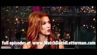 Poppy Montgomery in Late Show with David Letterman September 26, 2011