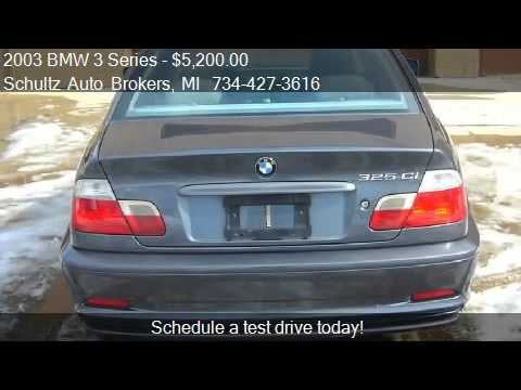 2003 BMW 3 Series 325Ci coupe for sale in Livonia, MI 48150