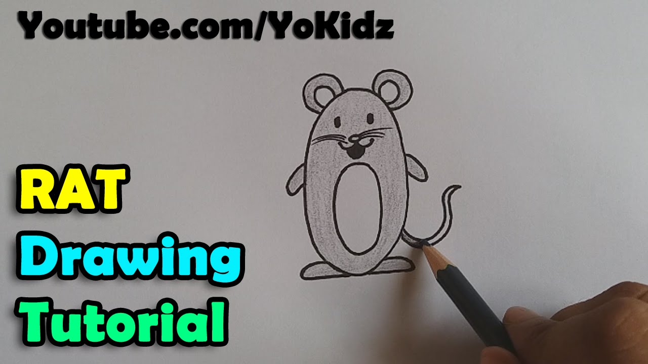 Uncategorized How To Draw A Cartoon Rat how to draw a cartoon rat mouse for kids super easy and step by step