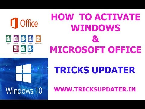How To Activate Windows 10 & Microsoft Office
