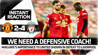 Defensive SHAMBLES Without Maguire! | Manchester United 2-4 Liverpool