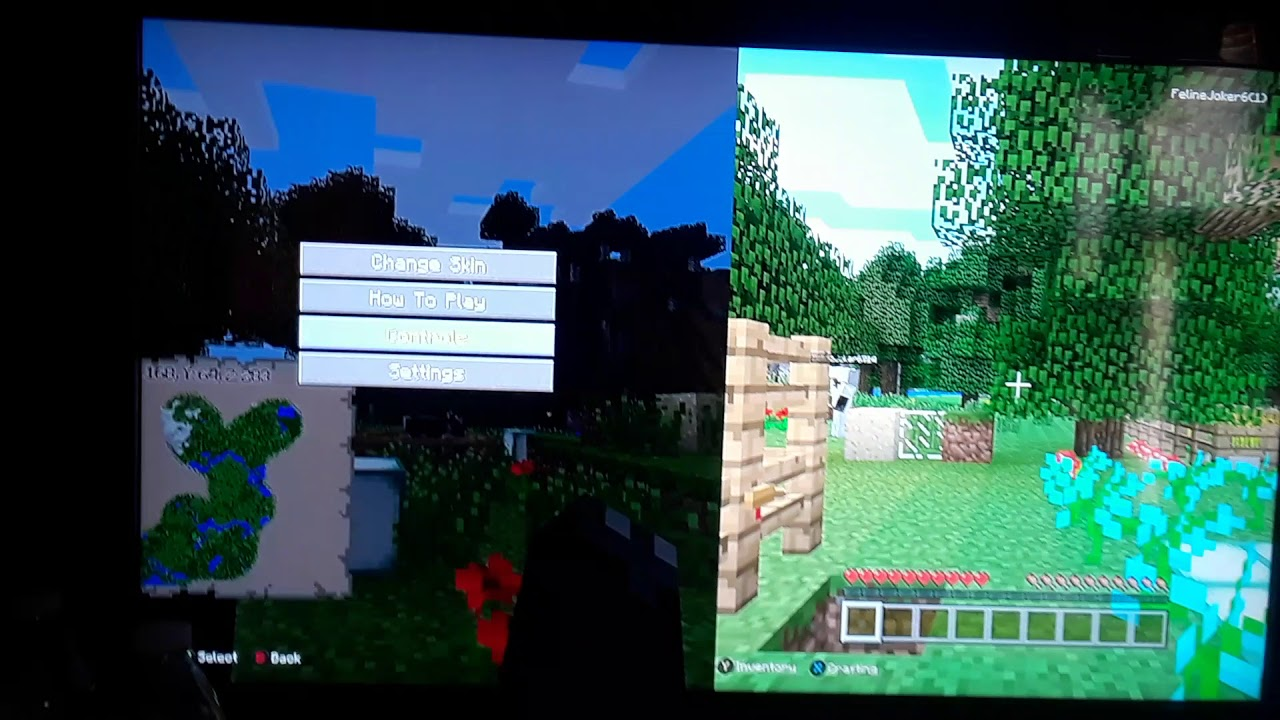 How to vertical splitscreen and gamma in minecraft