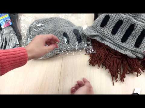 видео: Прикольные шапки с бородой, балаклава и перчатки