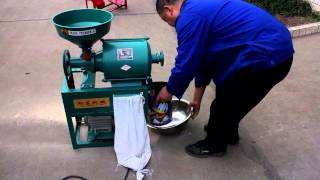 Wheat flour mill machine for home use 2015(English Subtitles)
