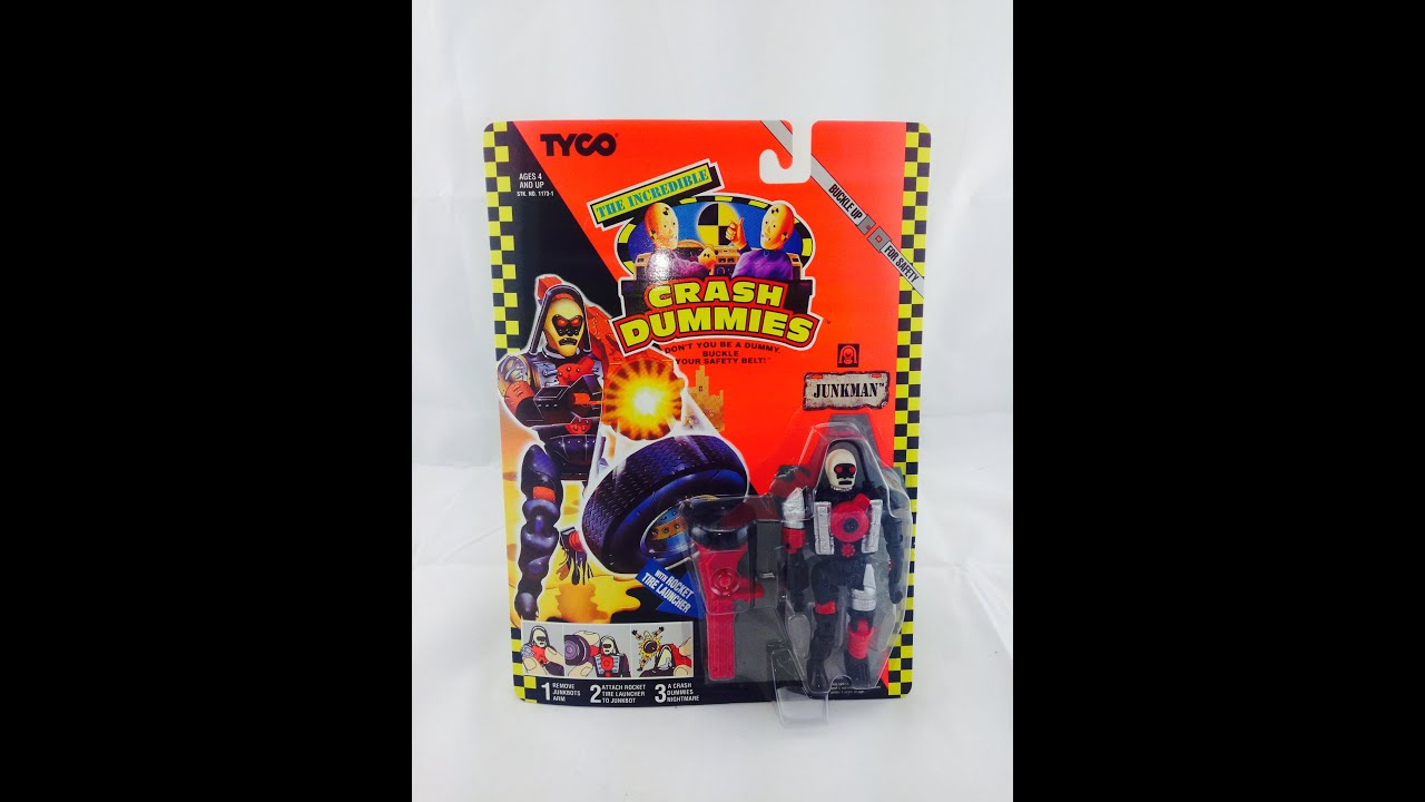 Rare Toys From The 80s : Junkman crash dummies moc new tyco tv s vintage
