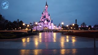 Early morning walk during Extra Magic Time at Disneyland Paris