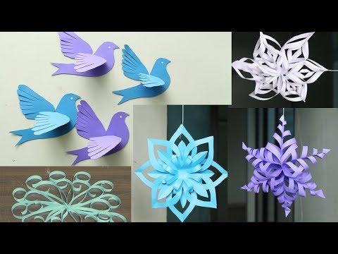 3D Paper Snowflake Tutorial - DIY Flowery Paper Snowflakes - DIY Crafts