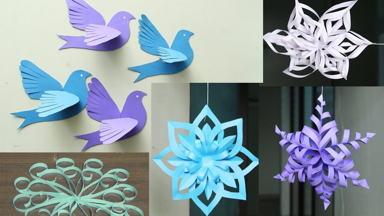 3d paper snowflake tutorial diy flowery paper snowflakes for Diy paper snowflakes 3d