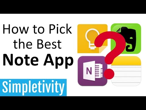 How to Pick the Best Note App (Evernote, Keep, OneNote)