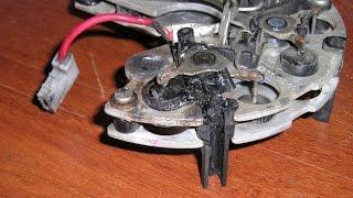 как заменить сгоревший диод на генераторе самому в домашних условиях