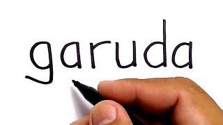 WOW, menggambar kata GARUDA jadi gambar KEREN