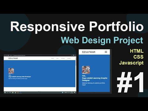 Tutorial Membuat Web Portfolio Responsive Menggunakan HTML, CSS Dan Javascript | Bagian 1