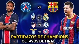 ¡LOCURA! Así se definió los OCTAVOS DE FINAL de esta Champions league 2020/21 - REACCIÓN y ANÁLISIS