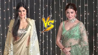 Katrina Kaif vs Anushka Sharma | Who Looked Better In Saree At Priyanka Nick Mumbai Reception