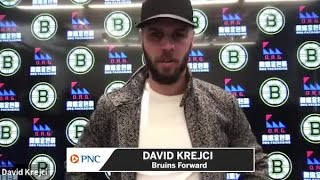 David Krejci Was 'Really Excited' When He Heard Bruins Got Taylor Hall