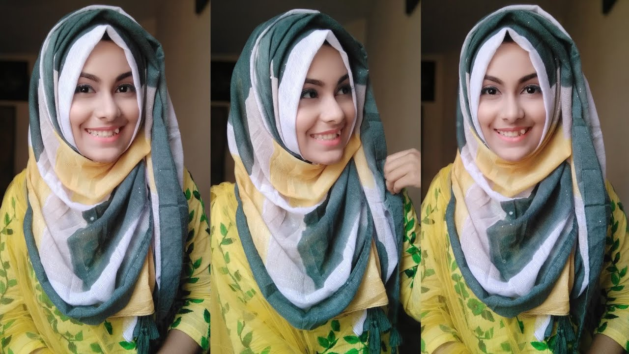 Easy Summer Hijab Tutorial Without Inner Cap School & College students   Noshin Nower ❤