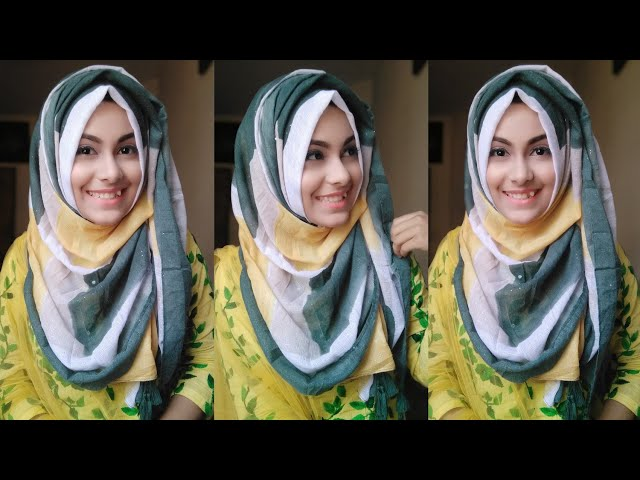 Easy Summer Hijab Tutorial Without Inner Cap School & College students || Noshin Nower ❤