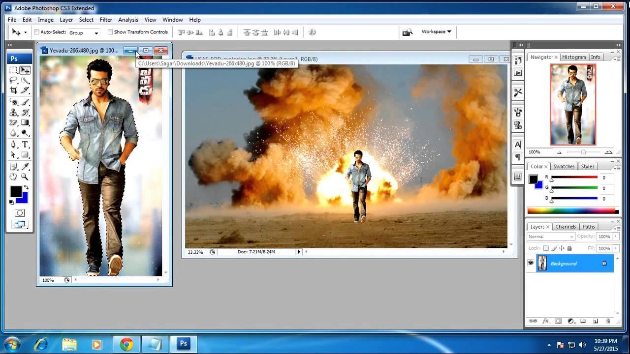 Cara Mengganti Background Menggunakan Adobe Photoshop Cs3 Youtube