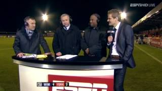 AFC Wimbledon v York City - FA Cup postmatch