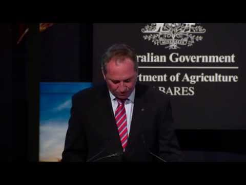 Opening address: The Hon. Barnaby Joyce MP Minister for Agri