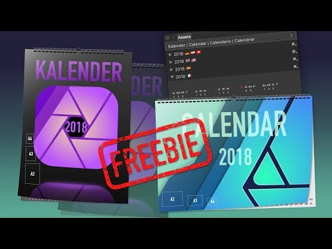 Kalender 2018 Freebies - Affinity Designer & Affinity Photo