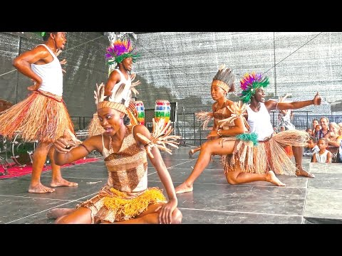 Africa Festival, Cameroon show in Germany, Tübingen-city 2015 4K Камерун-шоу в Германии.