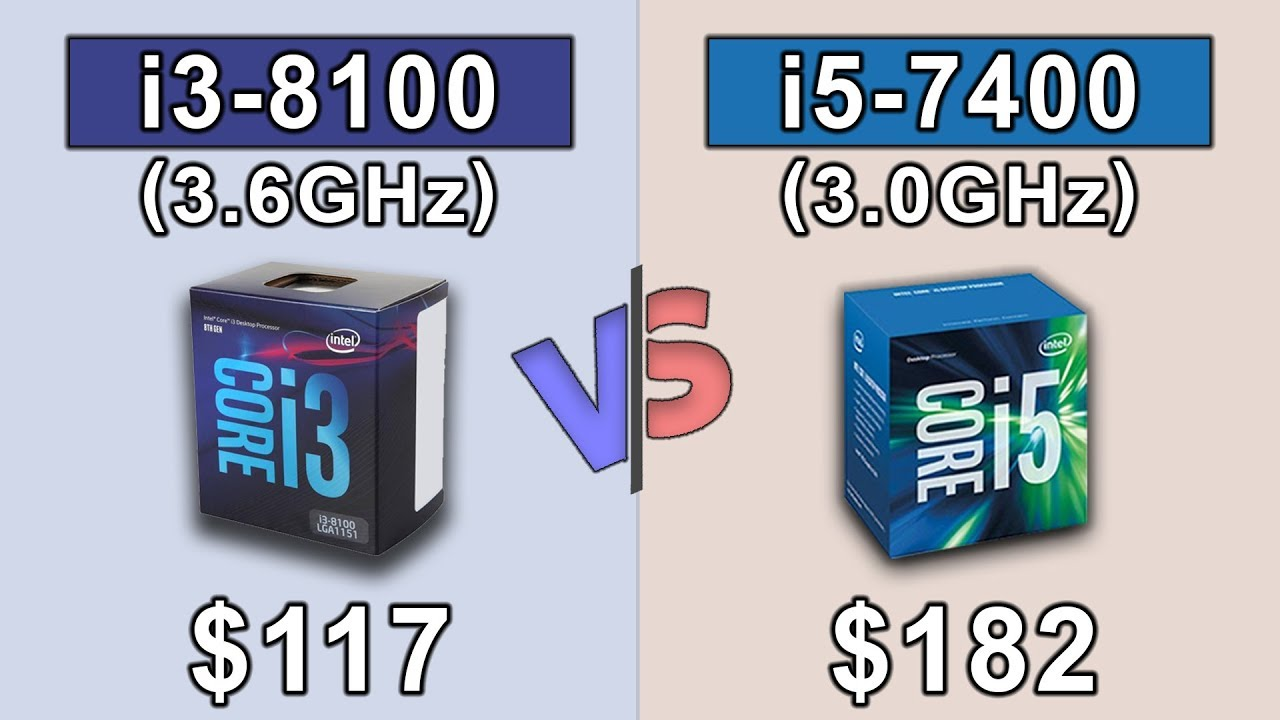 i3 8100 vs i5 7400 | Which should you buy...??? - YouTube