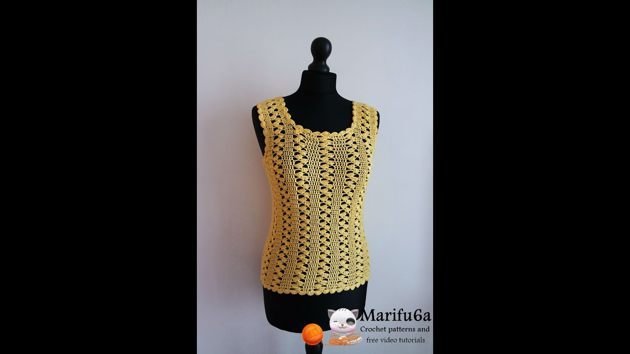 Beginner Crochet Top Patterns Free : How to crochet easy yellow top pattern free tutorial para ...