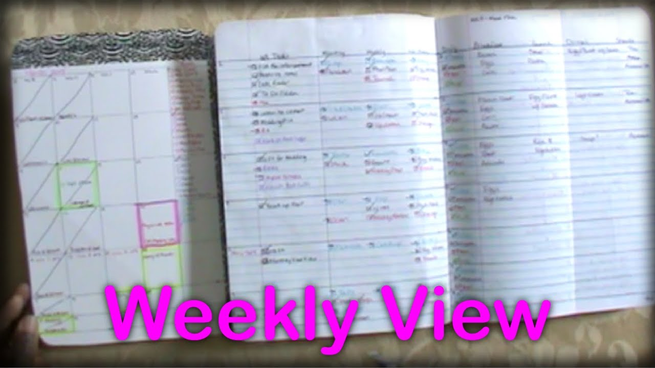 Diy Notebook Calendar : Diy composition notebook planner weekly view youtube