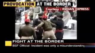 Pak Army Vs India Army Fighting at Wagah Border   Video Dailymotion 2