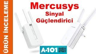 A101 de Satılan 2 Antenli Mercusys MW300RE Menzil Genişletici