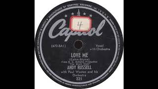 Capitol 221 – Love Me – Andy Russell YouTube Videos