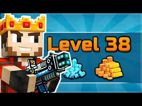 WE MADE IT TO THE HIGHEST LEVEL IN THE GAME 38 MAX LEVEL!! | Pixel Gun 3D